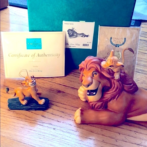 WDCC Lion King Pal's Forever & Simba Ornament Set